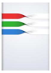 Vector faq labels, three option