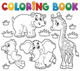 Coloring book African fauna 1 poster