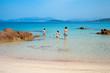 Paysage de plage en Corse