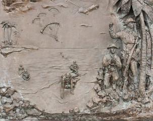 Washington US Navy Memorial Plaza sculpture
