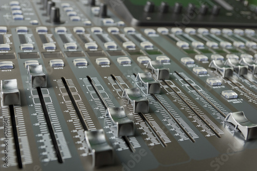 faders digital audio mixer