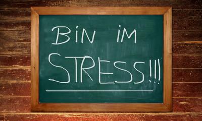 Kreidetafel - Stress