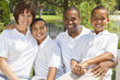 Mixed Race African American Family Parents & Children