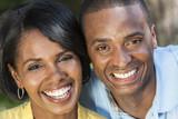 Fototapety African American Woman & Man Couple