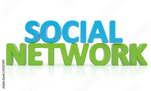3d word SOCIAL NETWORK