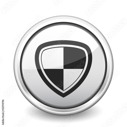 button gray shield