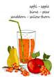 Saftglas Sanddorn, Birne und Apfel