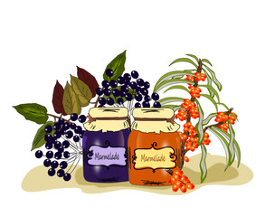 Marmelade Holunder und Sanddorn