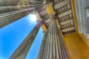 The Zappeion Megaron of Athens in Greece