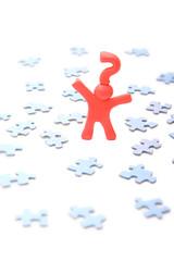 Fragezeichenmann im Puzzleproblem