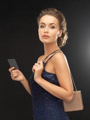 woman in evening dress