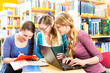 Students in library are a learning group