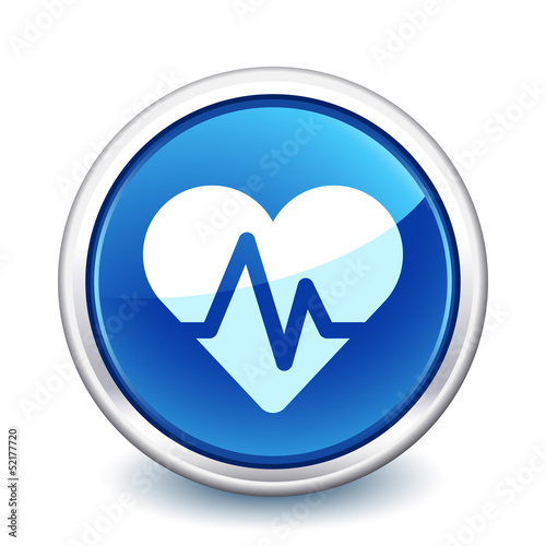 button blue ecg