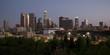 Downtown Los Angeles California City Skyline Horizontal