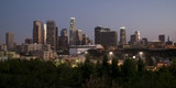 Downtown Los Angeles California City Skyline Horizontal