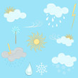 Weather vector design elements