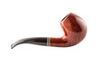 Retro tobacco pipe on a white background
