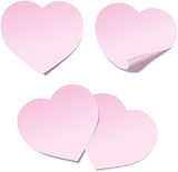 Heart Post it note ( Herz Post-it - Haftnotiz )