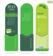Modern design Eco labels