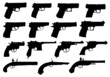 Set of pistols silhouettes - 52183546
