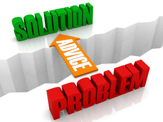 Advice is the bridge from PROBLEM to SOLUTION.