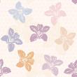 Orchid Pattern, polka dot design.