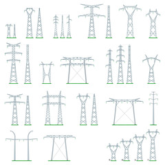 Électricité - Types de pylônes HT et THT