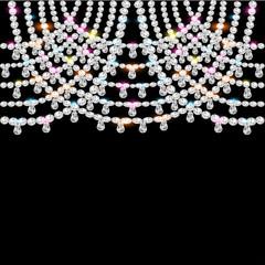 background with jeweled pendants on black