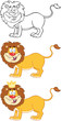 Happy Lion Cartoon Character.Collection