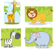 Jungle Animals Cartoon Charact...