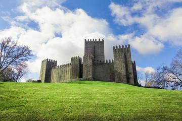 Guimaraes Castle on Spring season, Portugal