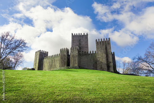Guimaraes Castle on Spring season, Portugal