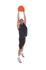 Basketball Sportsman Doing Slam Dank