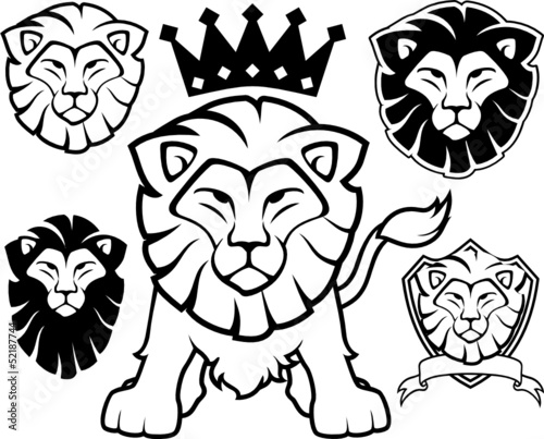 lion vector logo design