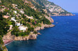 Beautiful Mediterranean coastline near Positano, Italy