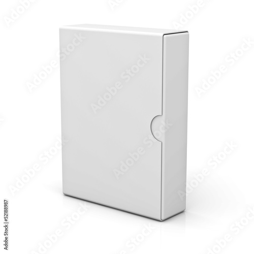 Blank Box isolated on white background with reflection