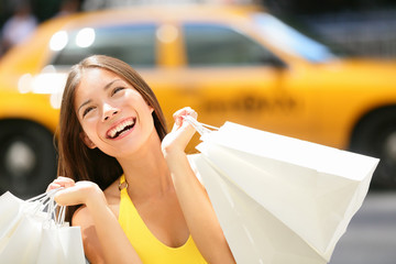 Shopper woman shopping in New York City