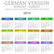 2014 German vectorial calendar