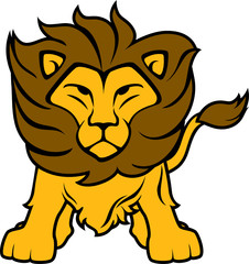 lion front view vector clip art