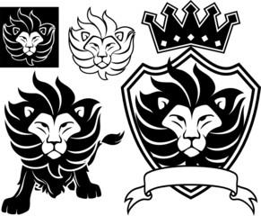 emblem lion vector