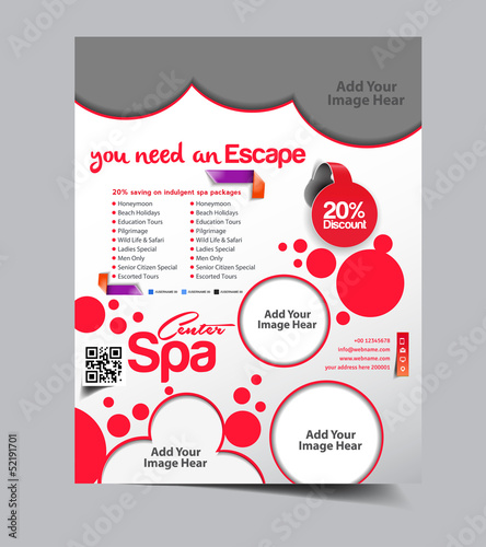 spa Poster/flyer design