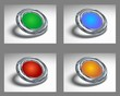 3D chrome icon set