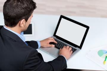 laptop mit freier fläche