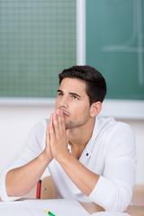 konzentrierter student
