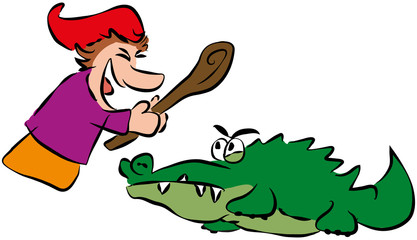 Punch and Crocodile ( Kasper und Krokodil )