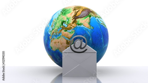 World with e-mail icon