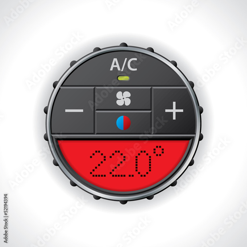Air conditioning gauge with red display