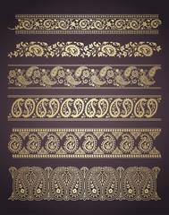 paisley floral designs , wedding card, royal India