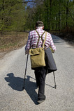The senior nordic walking