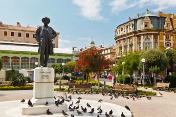 Kasalisni Park and Ivan Zajc Monument in Rijeka, Croatia